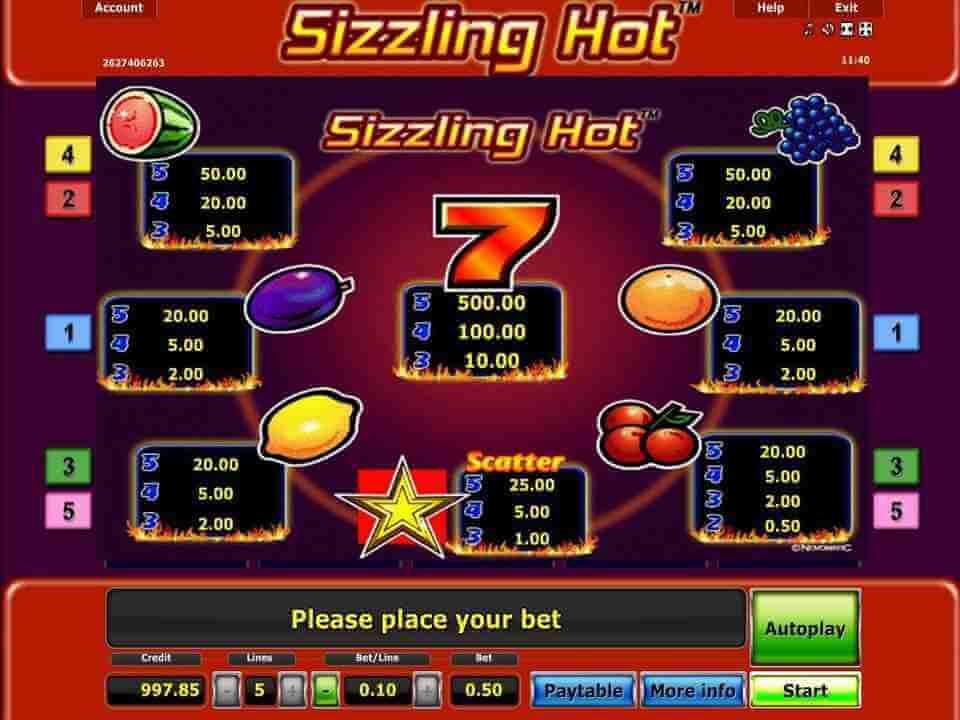 แนะนำเกมสล็อต Sizzling hot deluxe