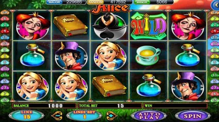 รีวิวเกมสล็อตออนไลน์ Alice
