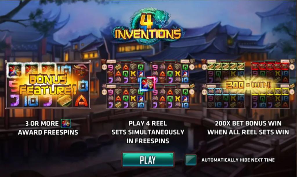 รีวิวเกมสล็อต The 4 Inventions เล่นง่ายจ่ายหนัก